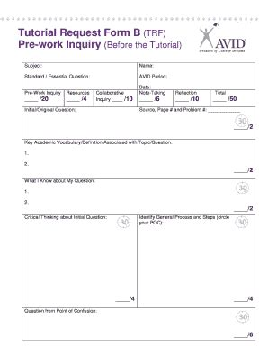tutorial video avid trf forms fill online printable fillable blank