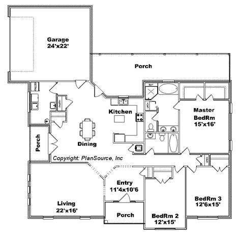 house plans for views 0629 12 house plan plansource inc
