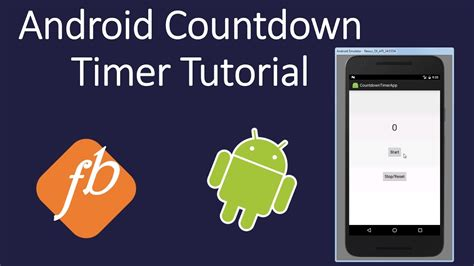 tutorial video android android countdown timer tutorial youtube
