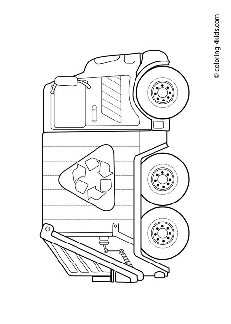 coloring page of trash truck garbage truck coloring pages for kids coloring pages