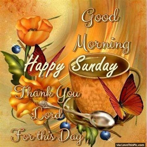 imagenes good morning happy sunday good morning happy sunday thank you lord for this day