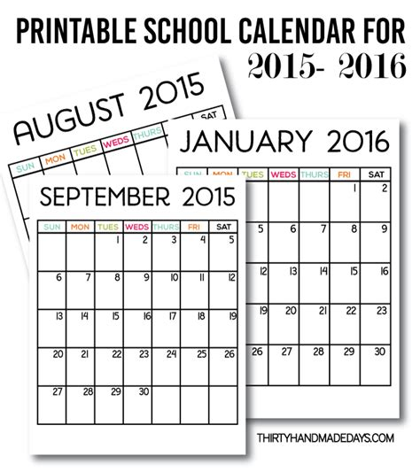 printable school year calendar 2015 printable school calendar for 2015 2016 download our free