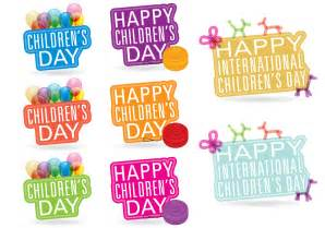 childrens day titles free vector stock