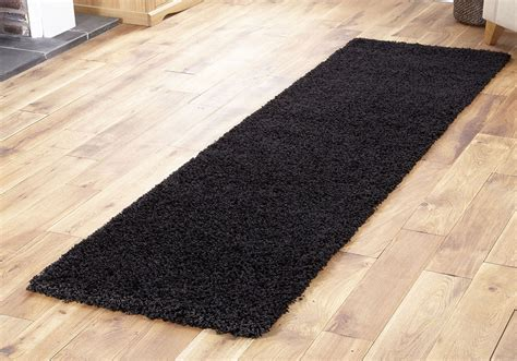 and black shaggy rugs modern thick 5cm pile blue green black brown quality runner rugs ebay