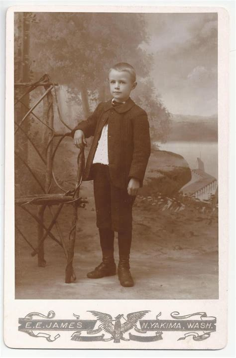 Cabinet Cards by Leaping Frog Designs Boy With Chair Cabinet Card