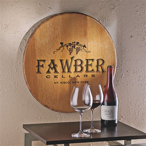 wine themed home decor authentic barrel head wall plaque with personalized wine