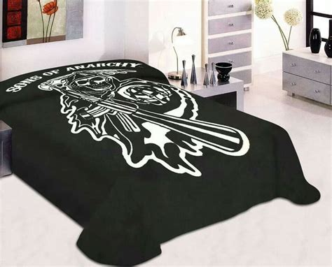 sons of anarchy curtains sons of anarchy bed spread home decor pinterest sons