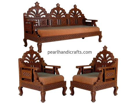Wooden Sofas Designs Carving Circular Rajasthani Traditional Teak Wood Sofa