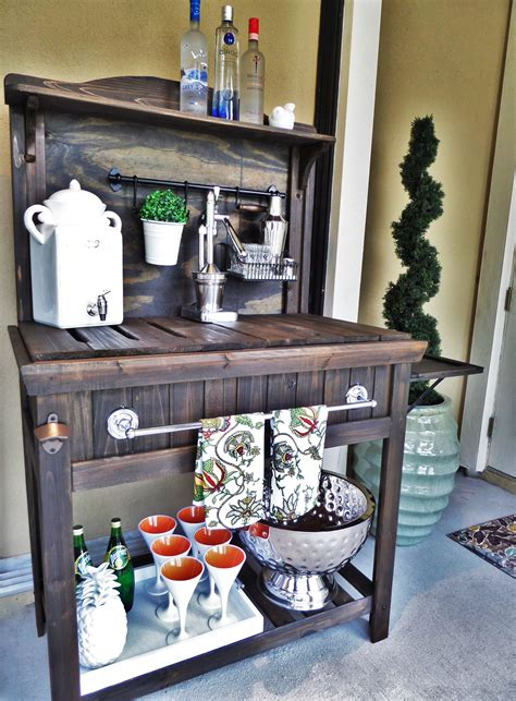 diy bar bench diy potting bench turned outdoor bar be my guest with