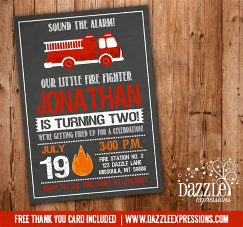 engine birthday card template printable chalkboard truck birthday invitation