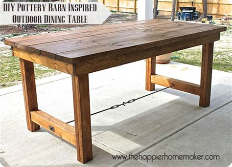 Diy Patio Table Plans Outdoor Dining Table Simple Home Decoration