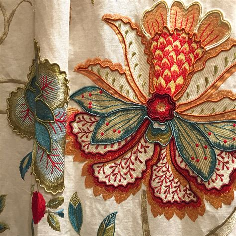 embroidery and on fabric colefax and fowler baptista linen anthony