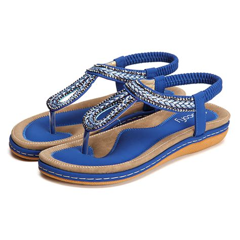 Flatshoes Poxing Blue Varian socofy us size 5 13 summer soft outdoor flat sandals alex nld