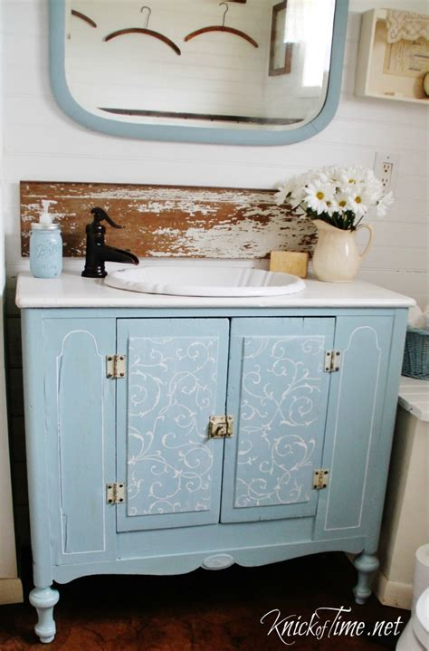 repurposed bathroom cabinet repurposed cabinet bathroom vanity via knickoftime net