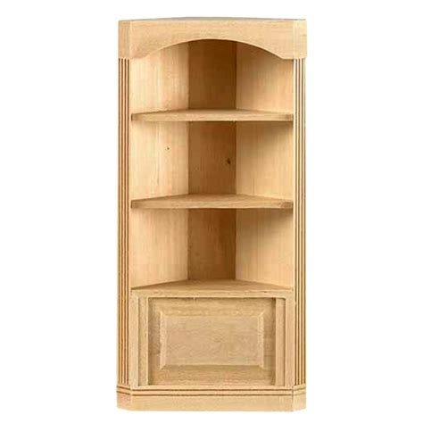 1 Quot Scale Houseworks 3 Shelf Corner Bookcase Availabl At Corner Bookcase Wood