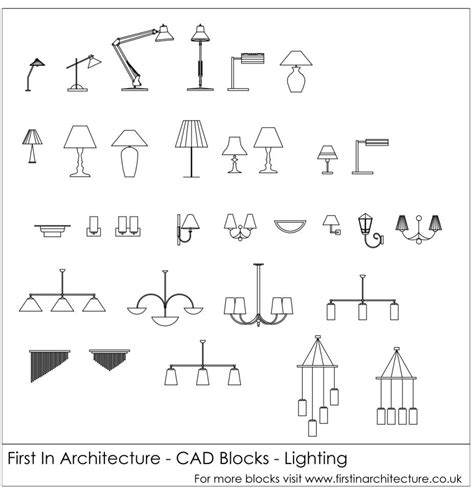 free cad blocks lighting architectural drawings