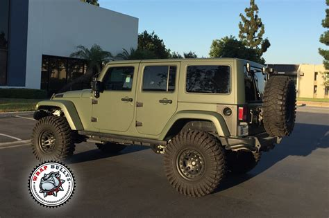 matte green jeep matte army green jeep wrap wrap bullys