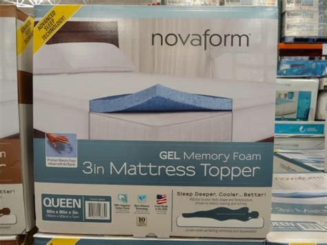 Costco Foam Mattress by Novaform 3 Inch Gel Memory Foam Mattress Topper