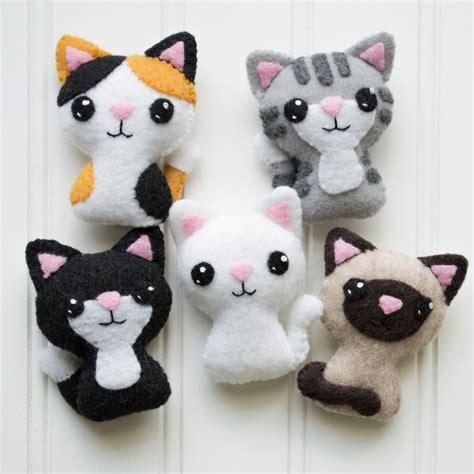 pattern for cat stuffed animal felt cat pattern sewing pattern cat softie pattern