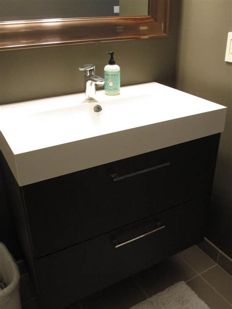ikea floating bathroom vanity rehabitual homes blog