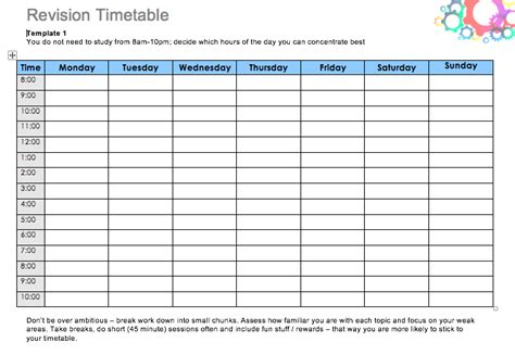 Daily Study Timetable For Students Top Form Templates Free Templates Download Study Plan Template