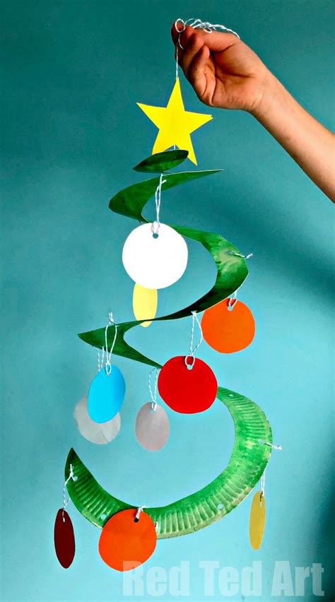 paper plate christmas art tree paper plate whirligig ted s