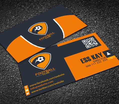 Football Business Card Templates by 50 Magnificent Free Business Cards Design Templates