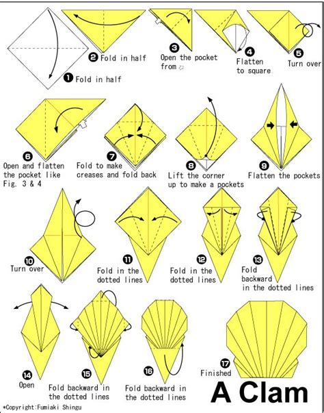 How To Make Paper Shells - best 25 origami ideas on origami