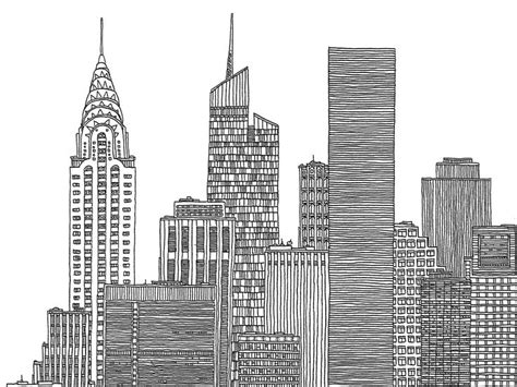 images for gt new york city skyline black and white illustration ny city skylines