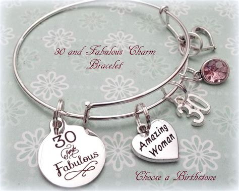 his fabulous girlfriend a bracelet which was also super cute yay 30th birthday gift 30 and fabulous charm bracelet