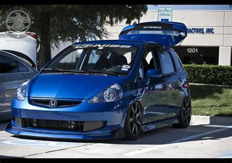 stanced honda fit  imagenes autos