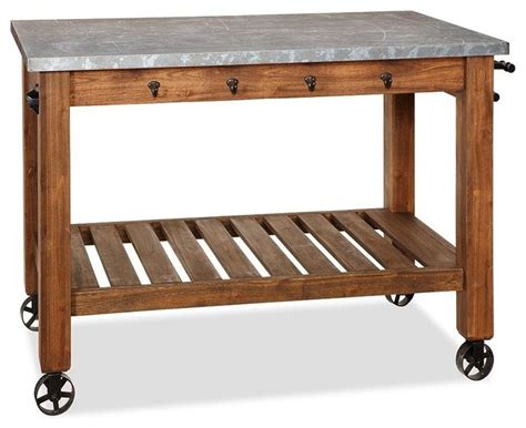 kitchen trolley island abbott zinc top island modern kitchen islands