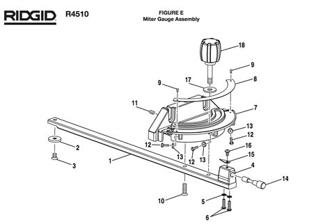 r4510 ridgid table saw parts