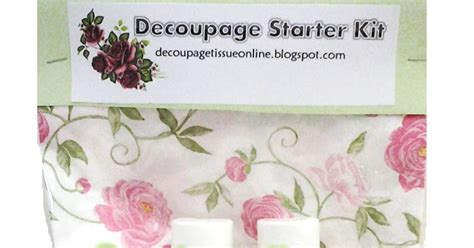 Decoupage Starter Kit - wardah decoupage decoupage starter kit