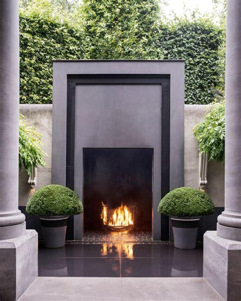 Outdoor Fireplace Modern by Best 25 Modern Outdoor Fireplace Ideas On Modern Outdoor Seats Modern