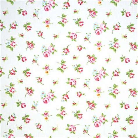 rosebud chintz vintage rosebud cotton on white background