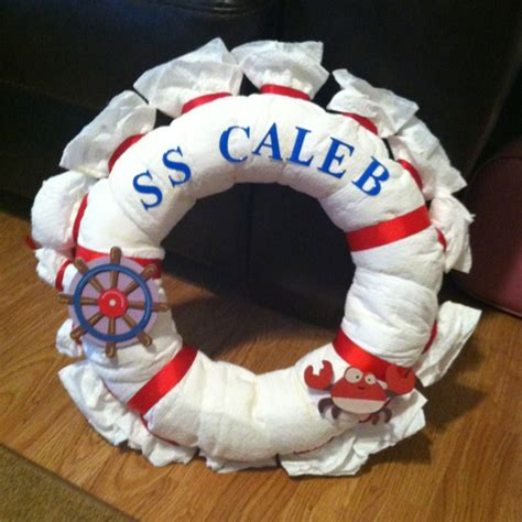 boat steering wheel diaper cake nautical baby on pinterest 42 pins