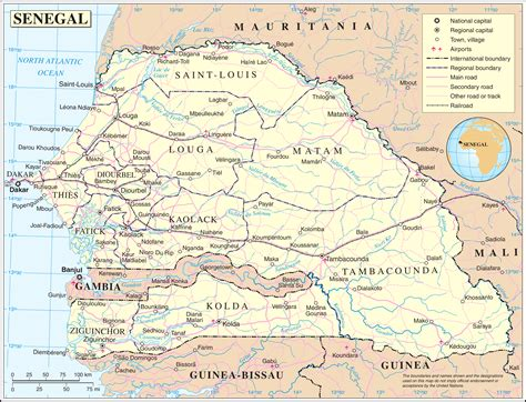 senegal map maps of senegal map library maps of the world