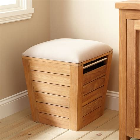 Teak Laundry Her Stool Large Bathroom Teak Laundry