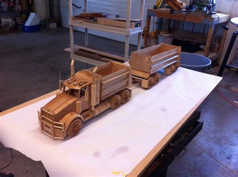 wooden kenworth truck build wooden truck woodworking