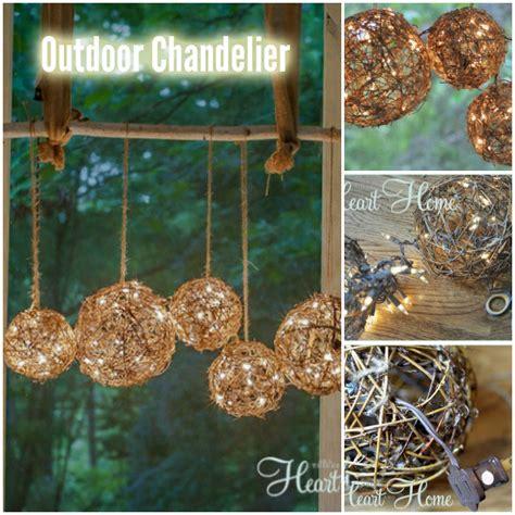 diy outdoor chandelier or porch light diy for life