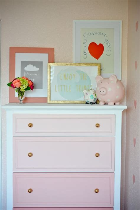 Diy Ombre Dresser by Diy Coral Ombre Dresser In A Room So Adorable And