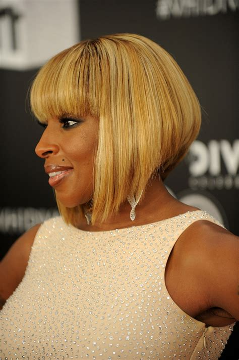 mary j blige hair stylebistro mary j blige inverted bob short hairstyles lookbook