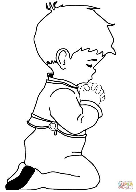 imagenes de ninos rezando para colorear dibujo de ni 241 o orando para colorear dibujos para