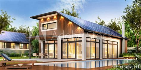 buying solar panels for house modern house with solar panels on the roof buy this stock illustration and explore