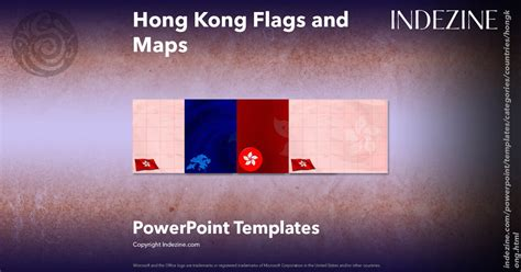 Hong Kong Flags And Maps Powerpoint Templates Hong Kong Powerpoint Template