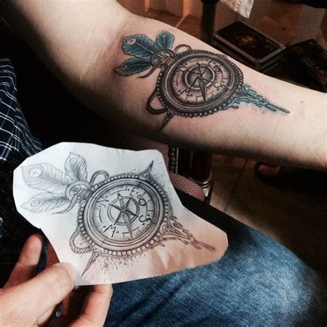 compass tattoo back of arm 101 impressive forearm tattoos for men