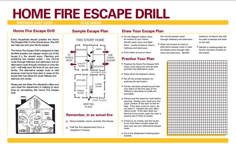 fire escape plans for home family escape plan west peculiar fire protection district