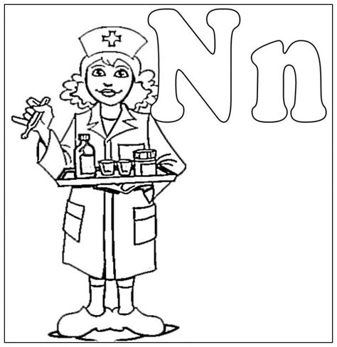 preschool coloring pages nurse nurse coloring pages kids coloring home