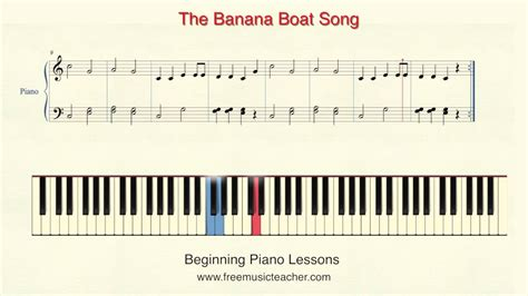 banana boat song notes how to play piano with solfege lesson 18 quot the banana boat